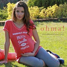 Plan para el fin de semana: Respira, sonríe y repite!  www.ohmabarcelona.com #embarazo #embarazada #ropaparaembarazadas #ropapremama #modaparaembarazadas #modapremama #pregnant #pregnancy #maternitywear #maternitystyle #ohmabarcelona #camisetapremama #instamami