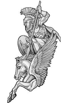 Forarm Tattoos, Body Art Tattoos, Hand Tattoos, Sleeve Tattoos, Tattoo Sketches, Tattoo Drawings, Gott Tattoos, Pegasus Tattoo, Poseidon Tattoo