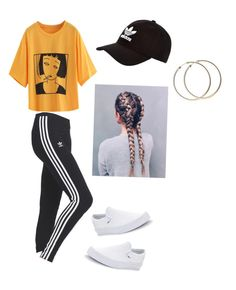 """""""Untitled #71"""" by haileymagana on Polyvore featuring adidas, Vans and adidas Originals"""