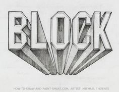 Draw cool 3d letters that appear to pop out of the page. Draw 3d block letters step by step. This drawing art lesson teaches you how. Use the sample block letters chart to write your name in 3d letters. one-point perspective and shading are covered in this drawing art lesson.