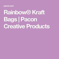 Rainbow® Kraft Bags   Pacon Creative Products
