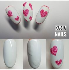 Valentine Nail Art, Valentines Day, Heart Nails, Design Art, Nail Designs, Manicures, Beauty, Work Nails, Creativity