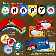 Angry Birds Printable Birthday Party Set ~ they are not free - you must purchase these