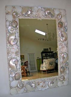 Custom 3' x 4' seashell mirror, $2800.00