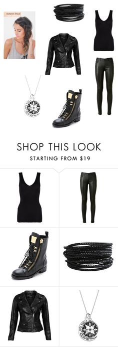 """""""Untitled #26"""" by kat-kitty18 ❤ liked on Polyvore featuring Hanro, Yves Saint Laurent, Giuseppe Zanotti, Pieces and VIPARO"""