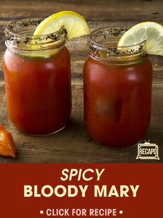Rachael's husband John always knows how to come correct with drink recipes, and his Bloody Mary Recipe is no different. It's made with Spicy V8 Juice!