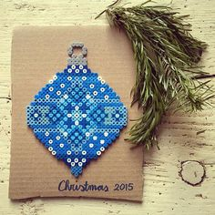 Christmas bauble ornament hama beads by tamatek