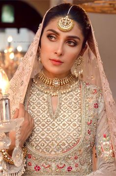 Nikkah Dress, Pakistani Formal Dresses, Party Wear Indian Dresses, Pakistani Wedding Outfits, Pakistani Bridal, Bridal Dresses, Stylish Dress Designs, Stylish Dresses, Ethnic Fashion