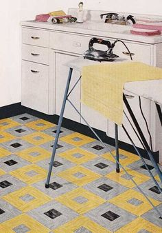 vintage flooring linoleum | 1950 linoleum patterns - Google Search | childhood memories