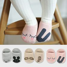Kids Cute Socks Boys Girls Cartoon Childrens Baby Antiskid Slipper Hosiery