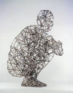 Antony Gormley sculpture.