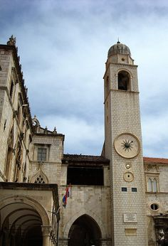 Clock Tower in Old Towne, Dubrovnik
