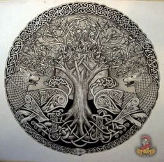 Yggdrasil, the Tree of Life, is not only one of the most well-known Viking symbols/Norse emblems but an important fundamental of the Norse principle itself. Celtic Tatoo, Norse Tattoo, Viking Tattoos, Wiccan Tattoos, Inca Tattoo, Yggdrasil Tattoo, Celtic Symbols, Celtic Art, Celtic Knots