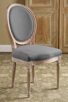 Oval Back Bergere Chair Side Chair - Vanity Chair, Upholstered Dining Chair, Vintage Desk Chair Rustic Dining Chairs, Rustic Chair, Old Chairs, Upholstered Dining Chairs, Table And Chairs, Ikea Chairs, Pink Chairs, Outdoor Dining, Discount Home Decor