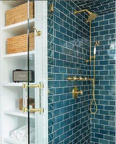 Ideas For Corner Shower Door Ideas Shower Door Handles, Bathroom Shower Doors, Bathroom Closet, Bathroom Hardware, Diy Bathroom Decor, Bathroom Interior, Modern Bathroom, 50s Bathroom, Bathroom Remodeling