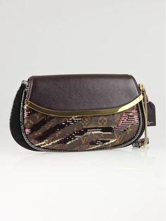 85b768e79d43 Louis Vuitton Limited Edition Bordeaux Monogram Savage Tiger Clutch Bag