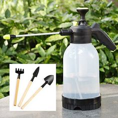 Spray Bottles Hand Hold Garden Sprayer Bottles for Cleaning Housekeeping Office Chemicals Pesticides Car All Purpose Cleaners 2 L White *** Find out more about the great product at the image link. (This is an affiliate link)