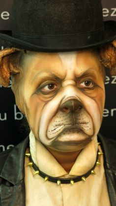 Realizado en el Curso Técnicas 2º Nivel.  #makeup #perro #makeupforever #caracterización #dog #cinema #cine #theatre #teatro #carnaval
