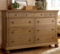 Paula Deen Down Home Aunt Peggy's Dresser UF-192040 Center drawer is a drop down and can be used as place for cable box