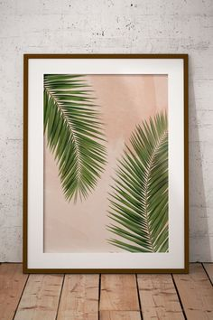 Palm Leaf Print, Leaf Print, Palm Leaf Art, Printable home decor, Tropical Decor, Leaf Wall Art, Modern Minimal, Minimal Decor