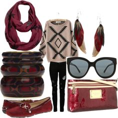 """Red and black for winter warmth"" by martha-hill-carter on Polyvore"