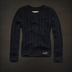 Hollister Clothes for Girls | Hollister Womens Navy Blue Cable Knit Seagull Logo Sweater TOP XS ...
