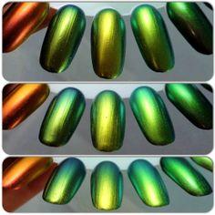 Multichromes Gold/Green comparison: Hits Speciallita Cool / Hits Speciallita Trendy / Dance Legend Wazowski