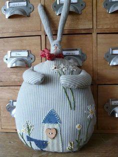 exemple de lapin bloque porte : belle idée ! #oekakirenaissance