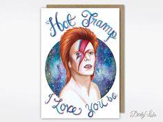 Kaart - de kaart van de David Bowie - briefpapier - hete vagebond - wenskaart - Funny - Kitsch Valentijnskaart