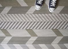 I love the idea of using a stripey fabric as a type of built-in chevron pattern!