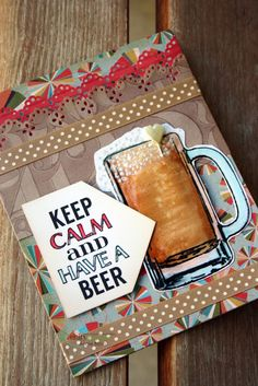 Unity Stamp Co. - Design Team Member - @Angie Wimberly Blom - Using Unity Stamp Co. stamps - {Keep Calm Have a Beer} http://www.unitystampco.com