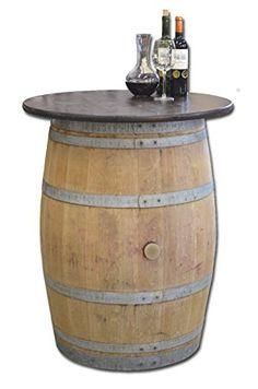 Tonneau de vin en fût de chêne avec plateau de table