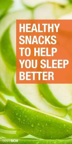 Healthy snacks that help you sleep better tonight!