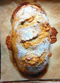 Cheddar and jalapeño no-knead bread