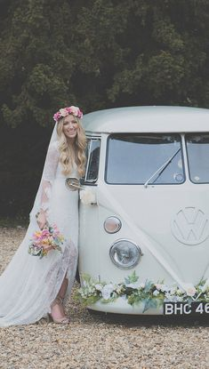 If you're looking for a wedding car in Hounslow, take at look at our beautifully restored VW campervan wedding car. As featured in Vogue, Tatler and many more.