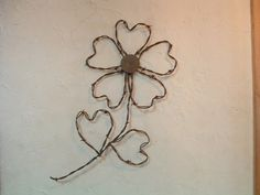 Rustic Western Rusty Barbed Wire Sunflower Wall Decor Set of 2 Barb Wire Crafts, Wire Hanger Crafts, Wire Hangers, Sunflower Wall Decor, Sunflower Design, Barbed Wire Decor, Christmas Hearts, Cowboy Christmas, Country Christmas