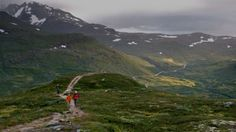 Some of Europe's most spectacular hiking is in Jotunheimen, a mountain area in Eastern Norway. It covers an area of roughly 1,351 square miles, including Norway's highest mountain Galdhopiggen, waterfalls, rivers, lakes, glaciers and luxuriant valleys.