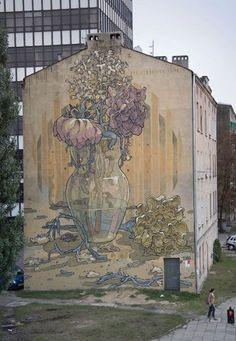 Łódź, Poland, street art
