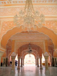 Vidyadar Bhattacharya and Sir Samuel Swinton Jacob {Architects} - Jaipur City Palace, India