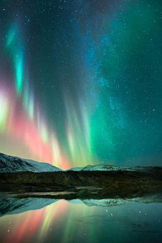 ~~A pink aurora dances at Rana in Nordland, Norway by Tommy Eliassen~~