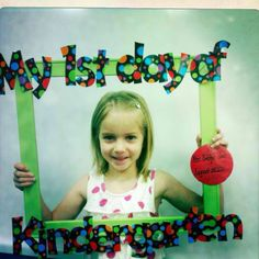 Did this for the beginning and end of kindergarten!  So cute! :)