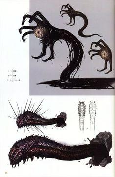 Magic Creatures, Dark Creatures, Alien Creatures, Fantasy Creatures, Mythical Creatures, Monster Concept Art, Fantasy Monster, Monster Art, Fantasy Kunst