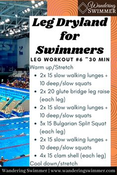 Dry Land Swim Workouts, Workouts For Swimmers, Swimming Exercises, Swimming Drills, Swimming Memes, Competitive Swimming, Swimming Tips, Best Cardio Workout, Easy Workouts