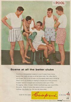 Underwear ad, 1956