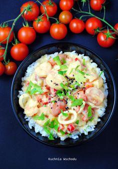 Tajskie curry z owocami morza