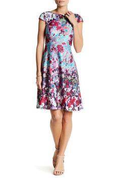 NWT ADRIANNA PAPELL AP1D101023 FLORAL PRINT SCUBA A-LINE DRESS #74 MULTI SIZE 8 | Clothing, Shoes & Accessories, Women's Clothing, Dresses | eBay!