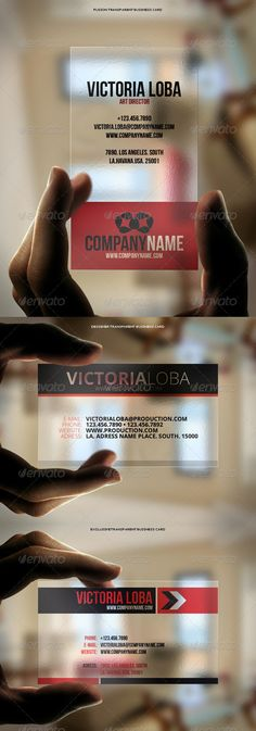 3in1 Transparent Business Cards Bundle #3. So cool!!