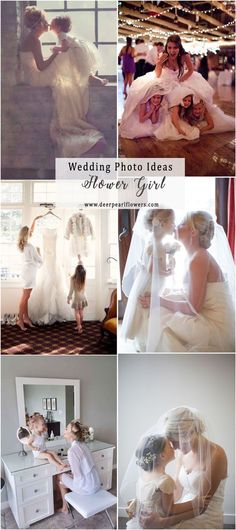 Bride and flower girl wedding photo ideas  #weddingideas #weddingphotos #wedding / http://www.deerpearlflowers.com/wedding-photo-ideas-and-poses/