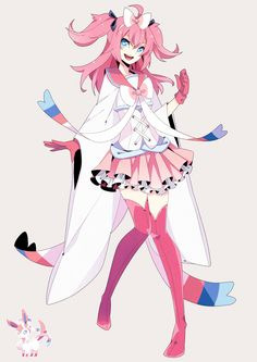 human version gijinka pokemon, sylveon