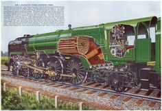Lovely cutaway of a steam locomotive - from 1959 encyclopedia